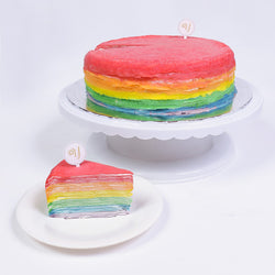 Agnes's Favourite Rainbow Mille Crepe Cake