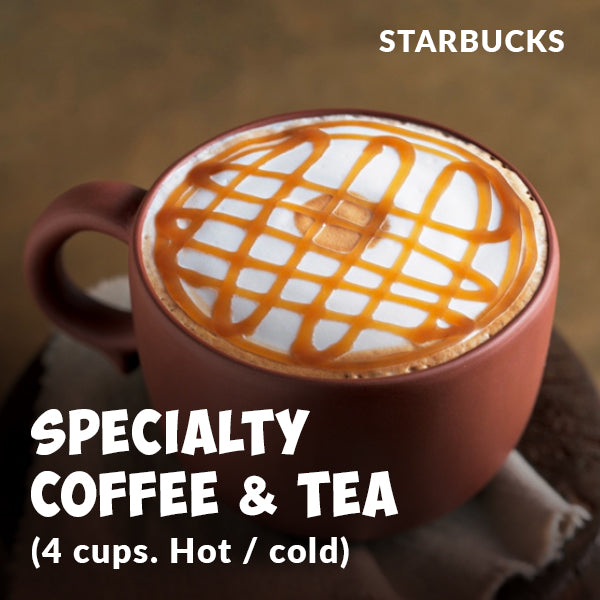 STARBUCKS Speciality Coffee and Tea x 4 Cups