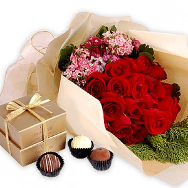 Sensuous Freya (Red Roses with Chocolate)