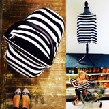 Khaki/Black White LARGE Stripe Mini LUX Baby Cover