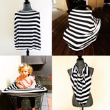 Black/ White LARGE stripe  Mini LUX Baby Cover