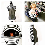 Black White Brick / Black Mini LUX Baby Cover