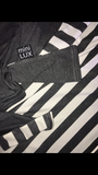 Charcoal Grey /Charcoal Grey White Stripe Mini LUX Baby Cover