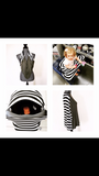 Charcoal Grey /Grey White Stripe Mini LUX Baby Cover