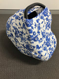 Blue floral Mini LUX Baby Cover