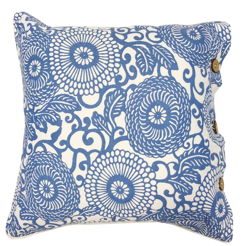 Anthea Blue Cotton Cushion Cover