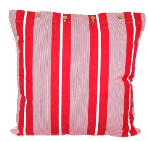 Finley Red Cotton Cushion Cover