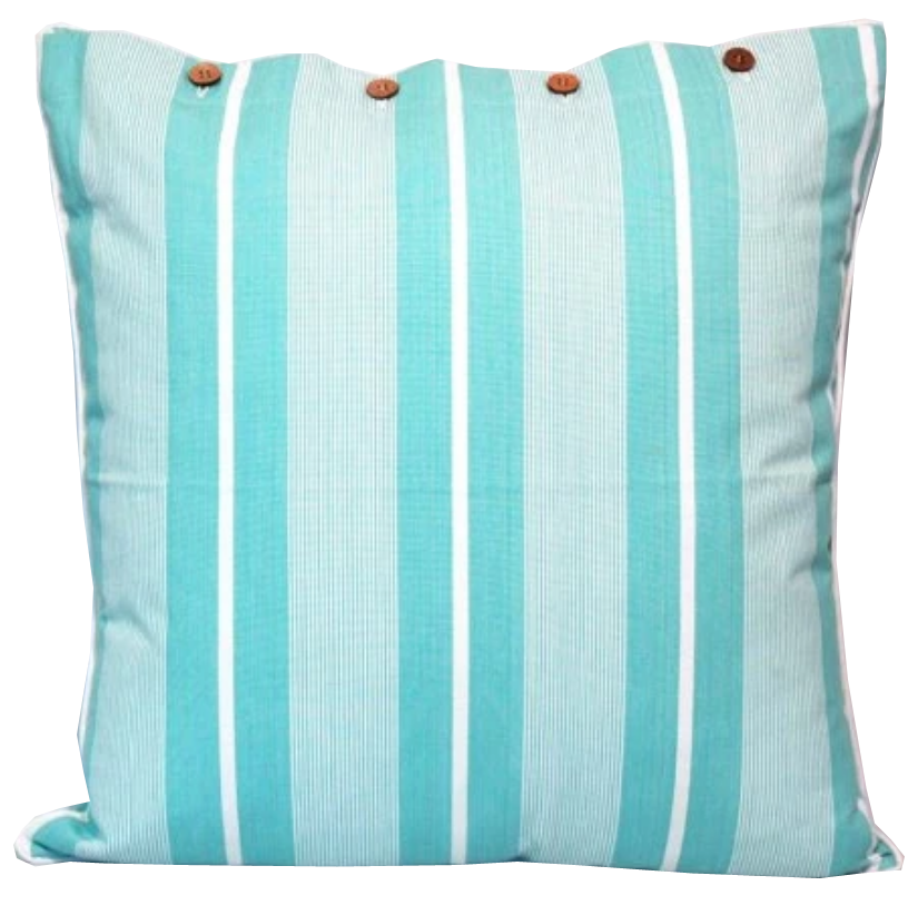 Finley Sea Green Cotton Cushion Cover