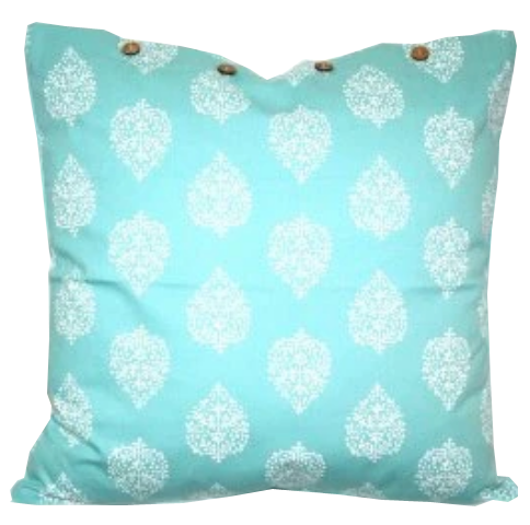 Avalon Green Cotton Cushion Cover