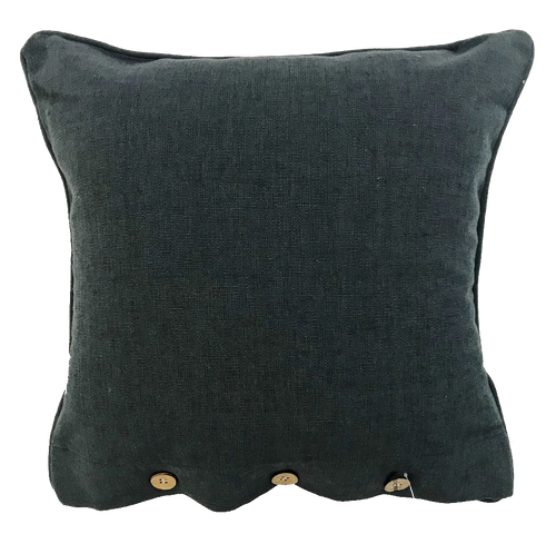 Charcoal Cotton Cushion Cover