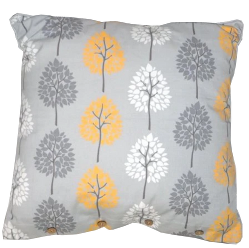 Tree Print Grey Cotton Cushion Cover