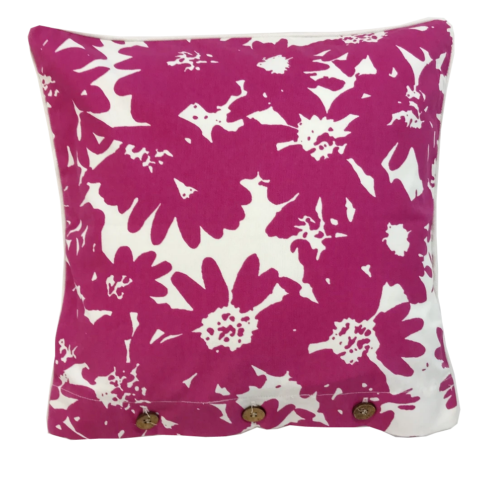 Martini Pink Cotton Cushion Cover