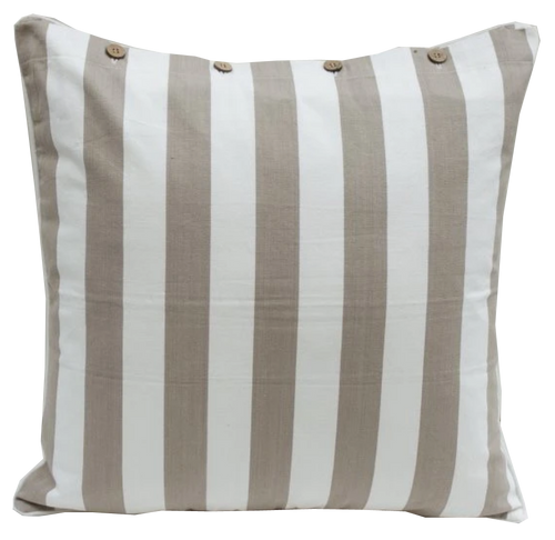OHara Beige Striped Cotton Cushion Covers