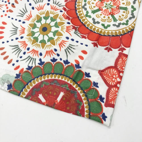 Wildflower Red Acrylic Coated Tablecloth