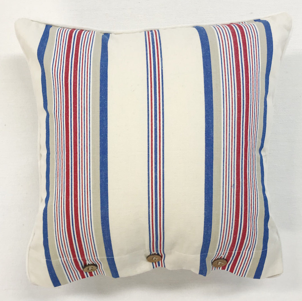 Orienteeringl Stripe Cotton Cushion Cover