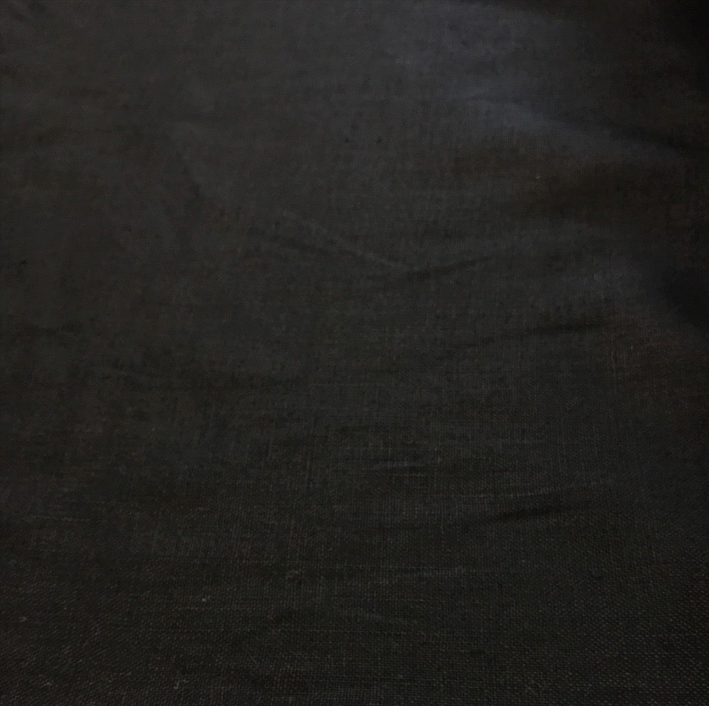 Linda Black Linen Fabric