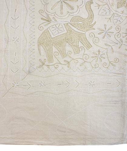 Calico Gold Embroided Bedspread