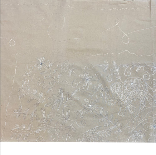 Calico Silver Embroided Bedspread