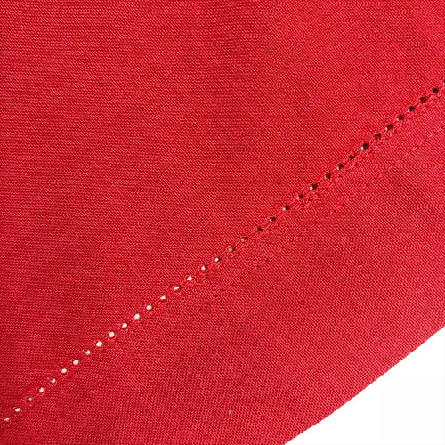 Red Cotton Tablecloth