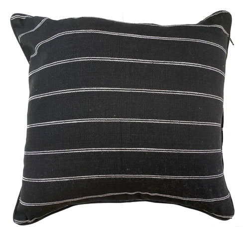 French Country Black Cotton Cushion Cover