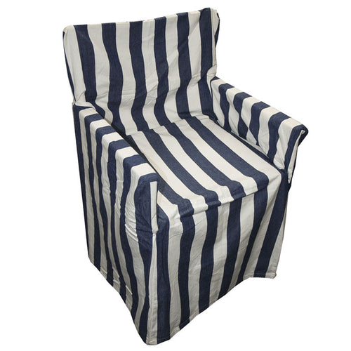Director's Chair Cover - Navy Stripe