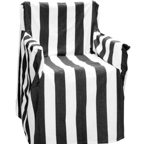 Director's Chair Cover - Black Striped