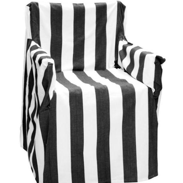 Directoru0027s Chair Cover   Black Striped