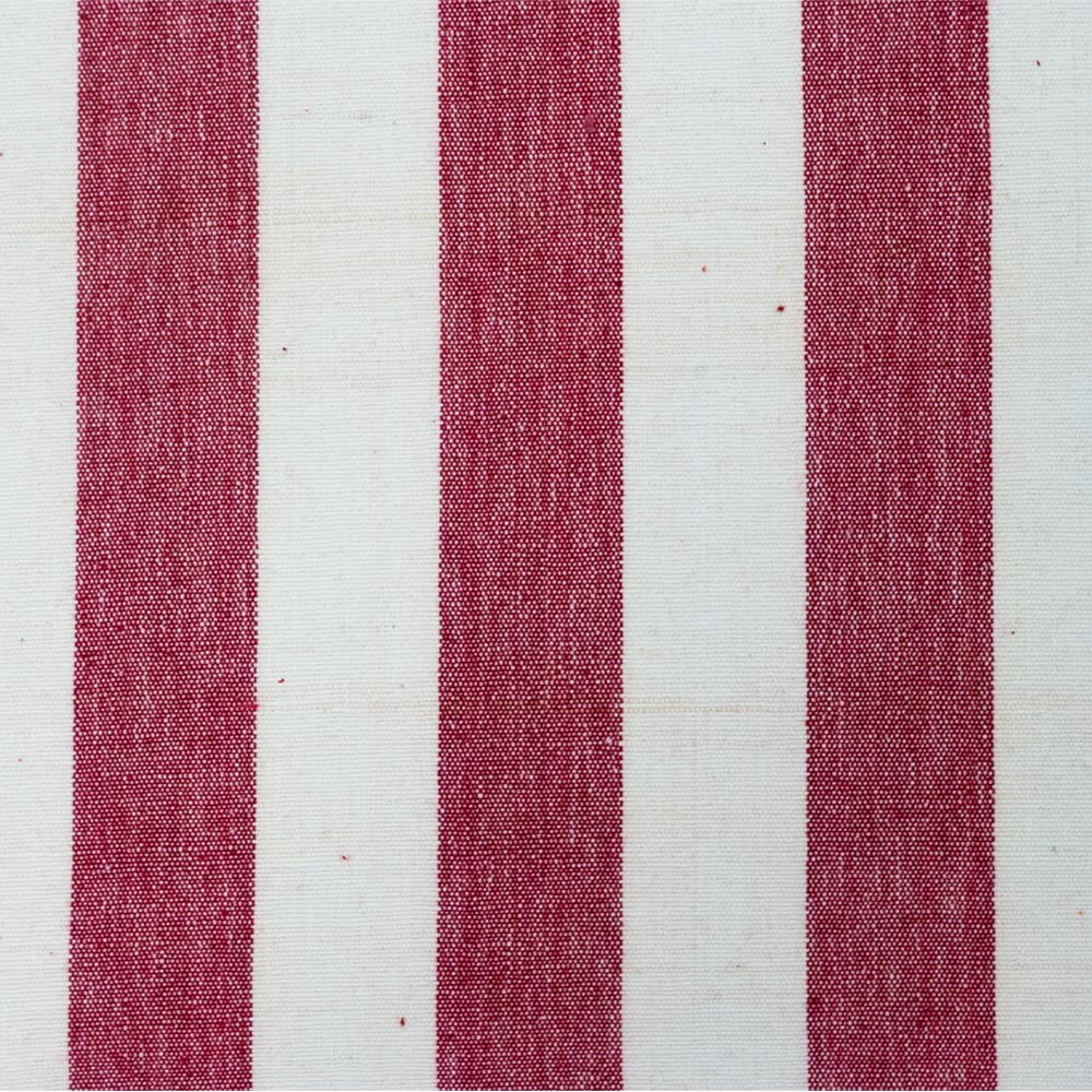 Red White Stripe Fabric Calicohouse