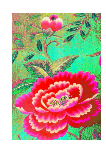 Anna Chandler Tea Towel in Chinese Peony