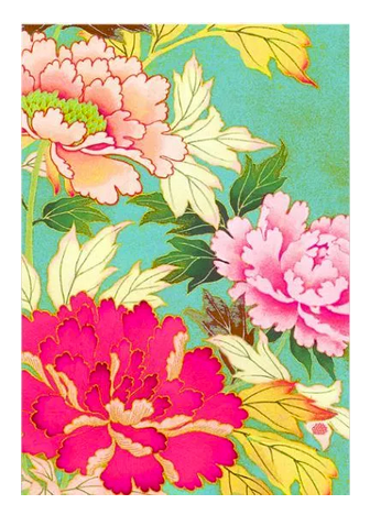 Anna Chandler Tea Towel in Kimono Flowers