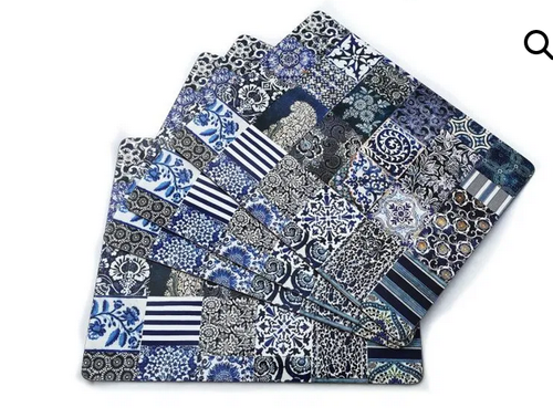 Anna Chandler Placemat in Indigo