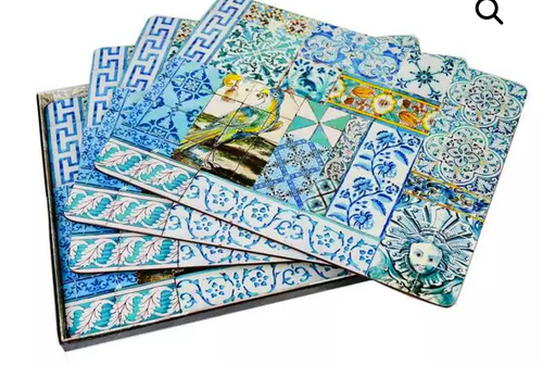 Anna Chandler Placemat in Portuguese Tile