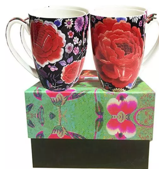Anna Chandler set of 4 Mugs in Flamenco