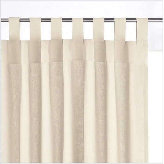 Cotton and Linen Tab Top Curtain