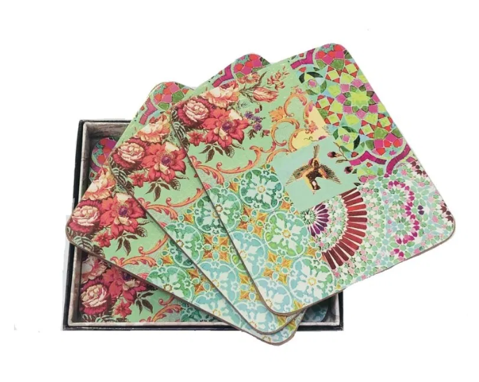 Anna Chandler Beverage Coaster in Green Patch