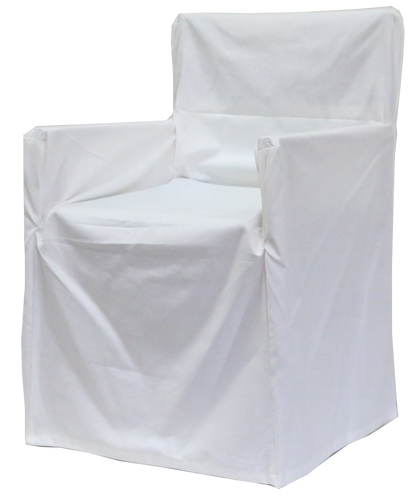 Director's Chair Cover- Trend White
