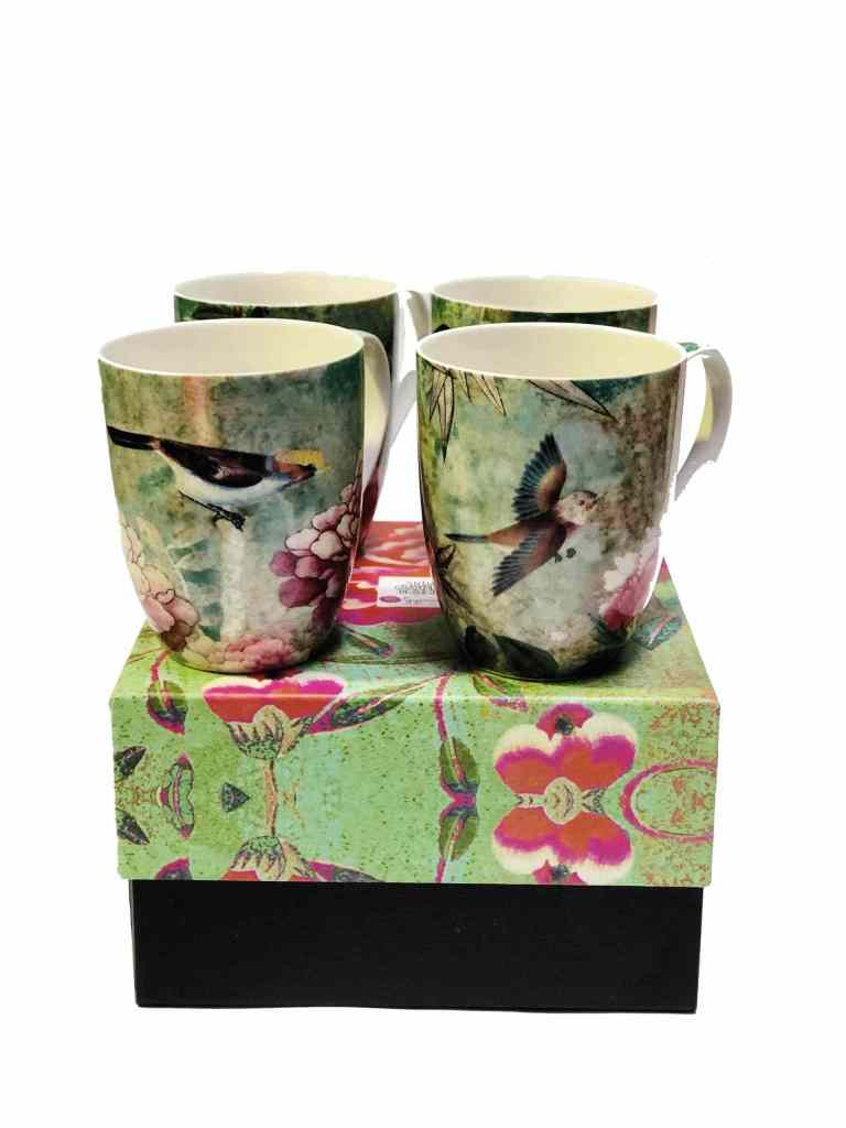 Anna Chandler set of 4 Mugs in Chinoiserie