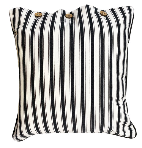 Attic Button Cotton Cushion Cover