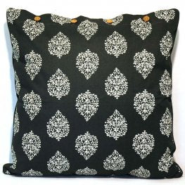 Avalon Charcoal Cotton Cushion Cover