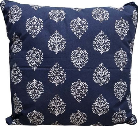 Avalon Navy Cotton Cushion Cover