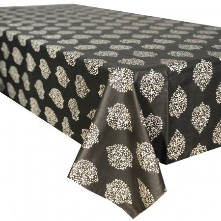 Avalon Charcoal Stain Proof Tablecloth