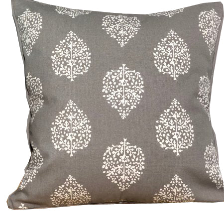 Avalon Grey Cotton cushion cover