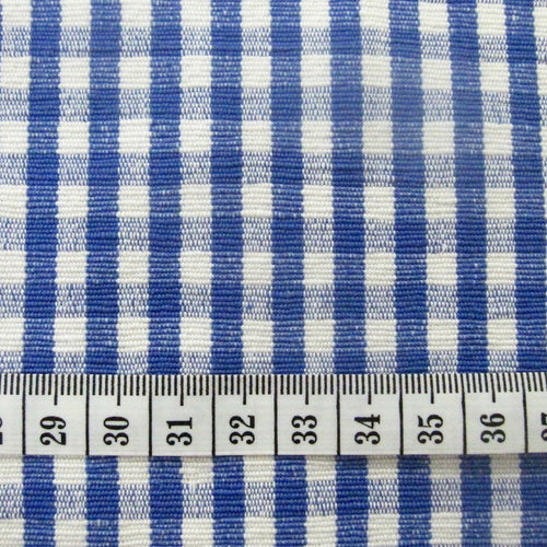 Cotton Gingham Fabric- Blue, Navy and Green