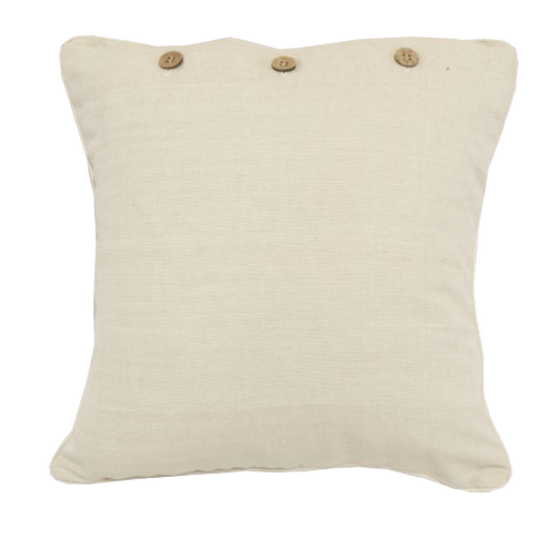 Cream Canvas Cushion Cover