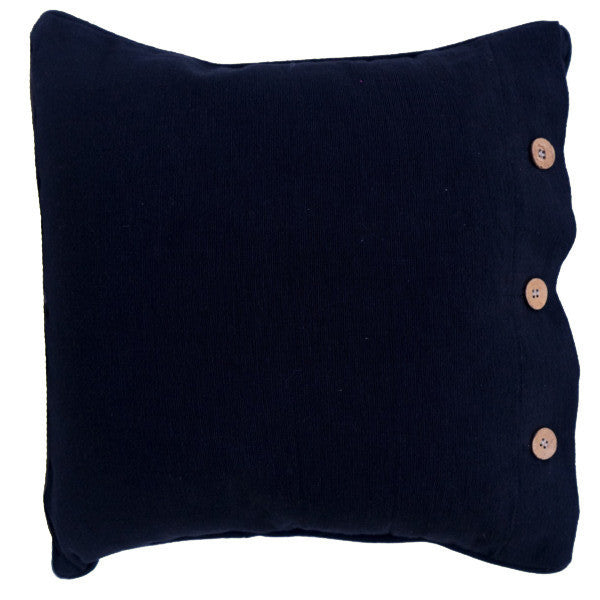 Black Cotton Cushion Cover