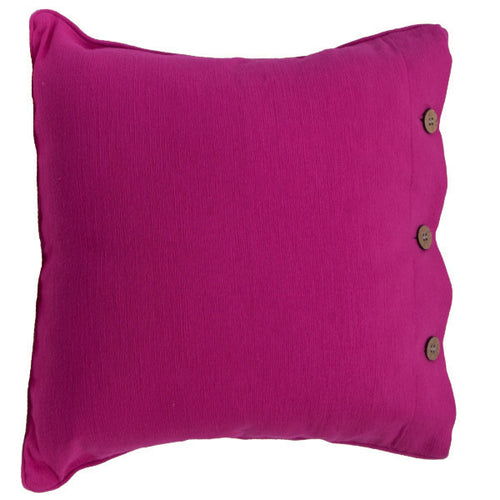 Fuchsia Cotton Cushion Cover
