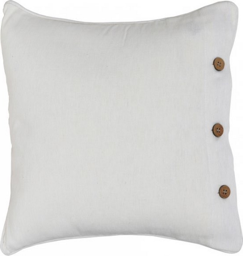 Off-White Cotton Cushion Cover