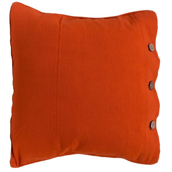 Orange Cotton Cushion Cover