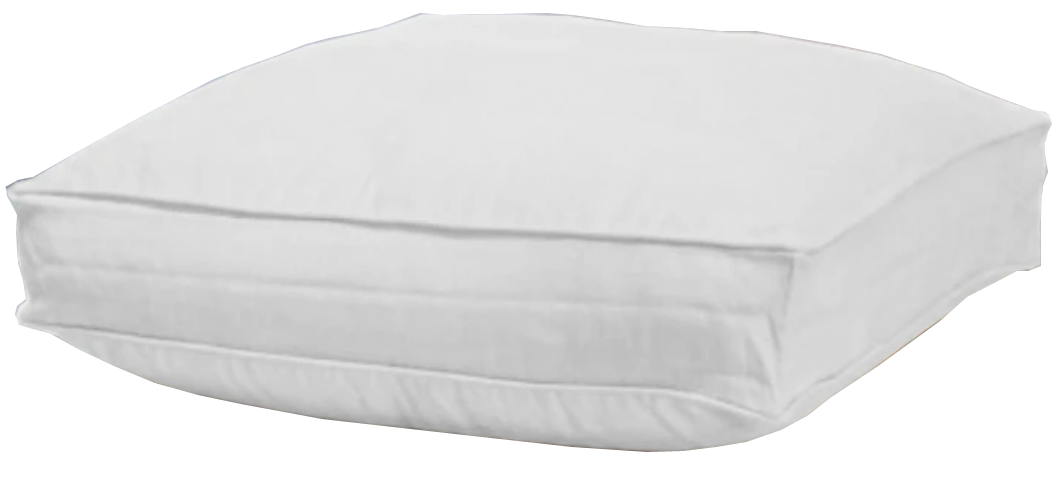 White Boxed Floor Cushion Cover