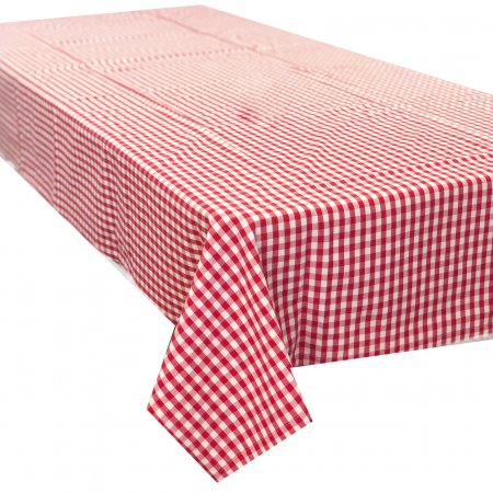Gingham Red Check Cotton Tablecloth
